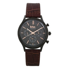 Lee Cooper Black Dial Chronograph Watch for Men