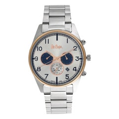 Lee Cooper Silver Dial Chronograph Watch for Men