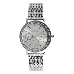 Lee Cooper Silver Dial Chronograph Watch for Women