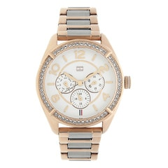 Tommy Hilfiger White Dial Chronograph Watch for Women