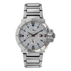 Tommy Hilfiger Silver Dial Multi-function Watch for Men