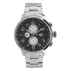 Tommy Hilfiger Black Dial Chronograph Watch for Men