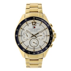 Tommy Hilfiger White Dial Chronograph Watch for Men