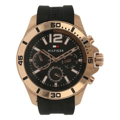 Tommy Hilfiger Black/Rose Gold Dial Analog For Men