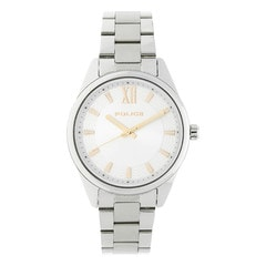 Police Silver Dial Watch For Women-PL14493MS04MAJ