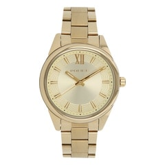 Police Gold Dial Watch For Women-PL14493MSG06MJ