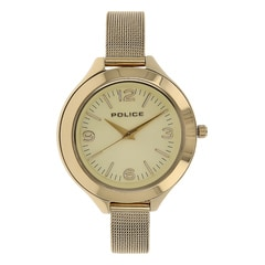 Police Champagne Dial Watch For Women-PL14498JSG06MJ