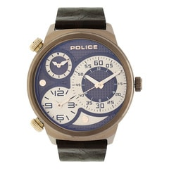 Police Blue Dial Chronograph Watch for Men