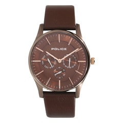 Police Maroon Dial Chronograph Watch for Men