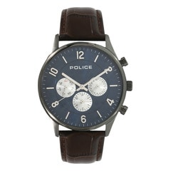 Police Blue Dial Analog Watch for Men