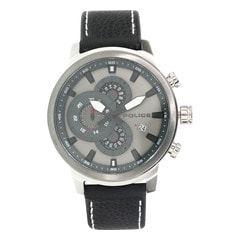 Police Silver Dial Chronograph Watch for Men