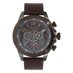 Police Brown Dial Multifunction Watch for Men