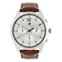 Tommy Hilfiger Silver Dial Chronograph Watch for Women
