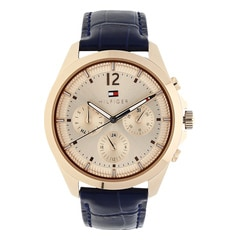 Tommy Hilfiger Rose Gold Dial Chronograph Watch for Women
