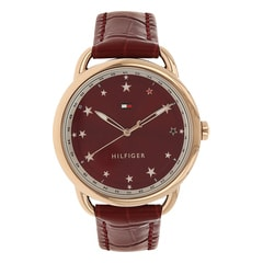 Tommy Hilfiger Red Dial Analog For Women