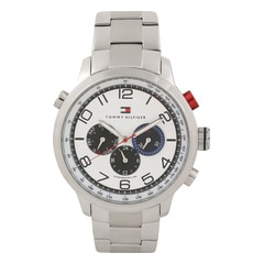 Tommy Hilfiger White Dial Chronograph Watch for Men-TH1790765J
