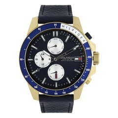 Tommy Hilfiger Blue Dial Chronograph Watch for Men