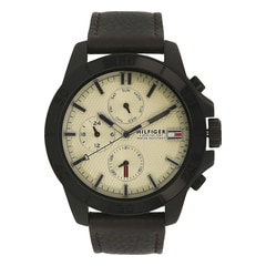 Tommy Hilfiger Cream Dial Chronograph Watch for Men