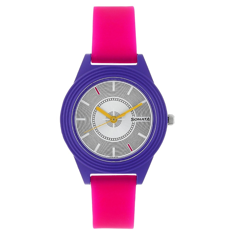 Buy Sonata Analog Watch for Girls 87024PP02 online from Titan