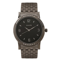 Sonata Diwali Black Dial Analog Watch for Men
