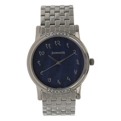 Sonata Blue Dial Analog Watch For Men-7108TM01