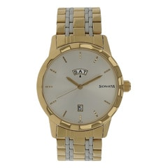 Sonata Glamors Silver Dial Analog Watch for Men-7113BM01