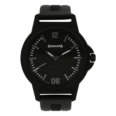 Sonata Black Series Black dial watch for Men-7119PP02J