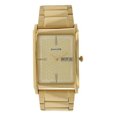 Sonata Champagne Dial Analog Watch For Men-77002YM06