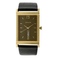 Sonata Black Dial Analog Watch For Men-77032YL02J