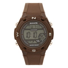 Sonata Watches Black Dial Digital Watch For Gents-77033PP02