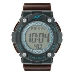 SF by Sonata Brown Strap Digital Watch for Men-77042PP01J