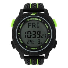 SF Carbon II Series Black Strap Unisex Digital Watch