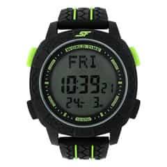 SF Carbon II Series Black Strap Unisex Digital Watch