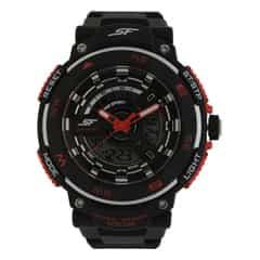 Black Dial PU Strap Watch