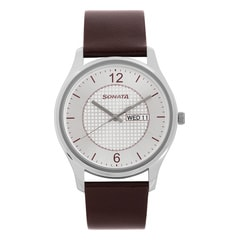 Sonata Essentials Silver Dial Analog with Day and Date Watch for Men