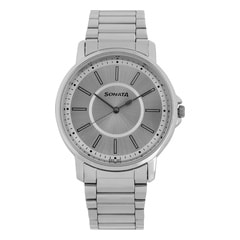 Sonata Essentials Silver Dial Analog Watch for Men