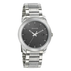 Sonata Anthracite Dial Analog Watch for Men