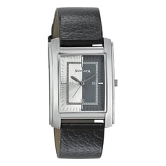 Sonata Professional Series Silver White and Black dial watch for Men-7953SL05J