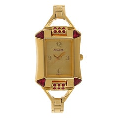 Sonata GOLD Dial Analog Watch for Women