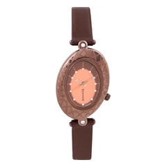 Sonata Peach Dial Analog Watch For Women-8125QL01
