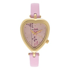 Sonata Pink & Purple Pink Dial Analog Watch for Women