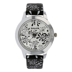 Sonata Floral Valentine Series Silver White dial Watch for Women-87019SL01J