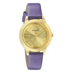 Sonata Splash Purple Analog Watch for Girls