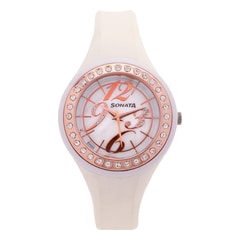Sonata Mother Of Pearl Dial Analog Watch For Women-8994PP01