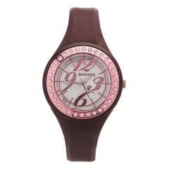 Sonata Mother Of Pearl Dial Analog Watch For Women-8994PP02