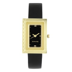 Sonata Black Dial Analog Watch For Women-NB8076YL02
