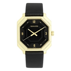 Sonata Black Dial Analog Watch For Men-ND7099YL01