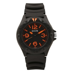 Black Dial Analog Watch