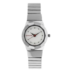 Sonata White Dial Analog Watch For Women-ND8981SM03