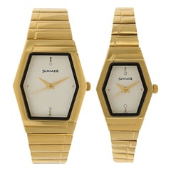 Sonata Silver Dial Analog Watch For Pair